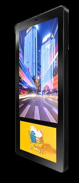 Ei-Slim Dual Дисплей с двойным экраном для рекламы в лифте