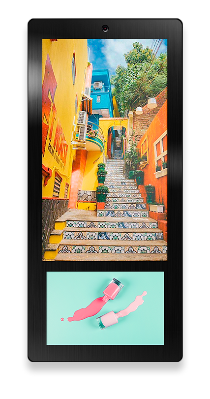Elevator Advertising Screen. Advertising Digital Signage Display Ei-Slim Dual by Eastidea