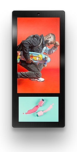 Elevator Advertising Indoor Advertising Digital Signage Display Ei-Slim Dual by Eastidea