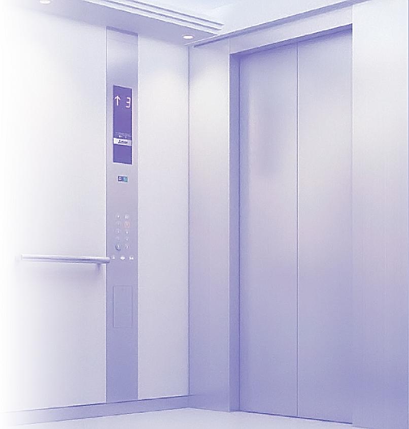 Elevator Advertising Display. Indoor Advertising. Digital Signage Display Ei-Slim Dual by Eastidea