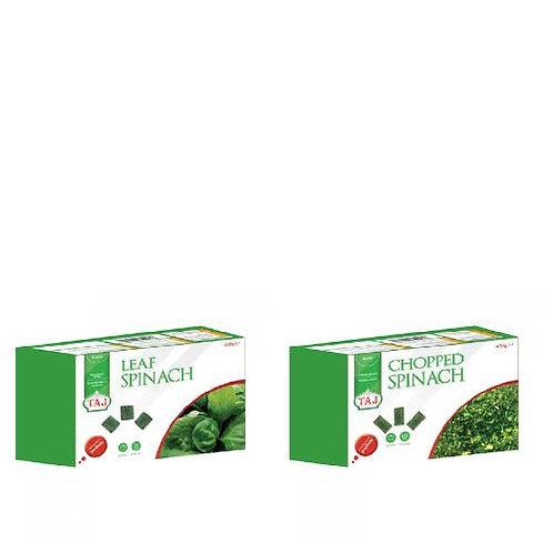 Taj frozen spinach