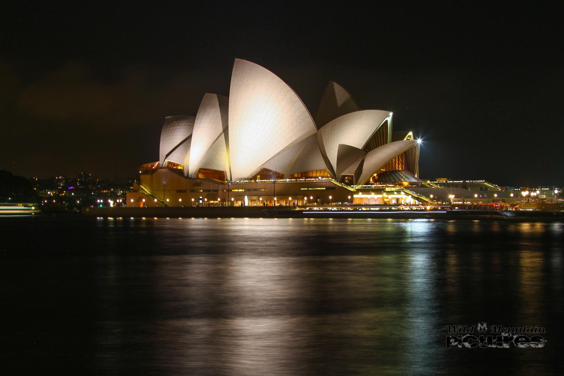 Sydney Opera At Night