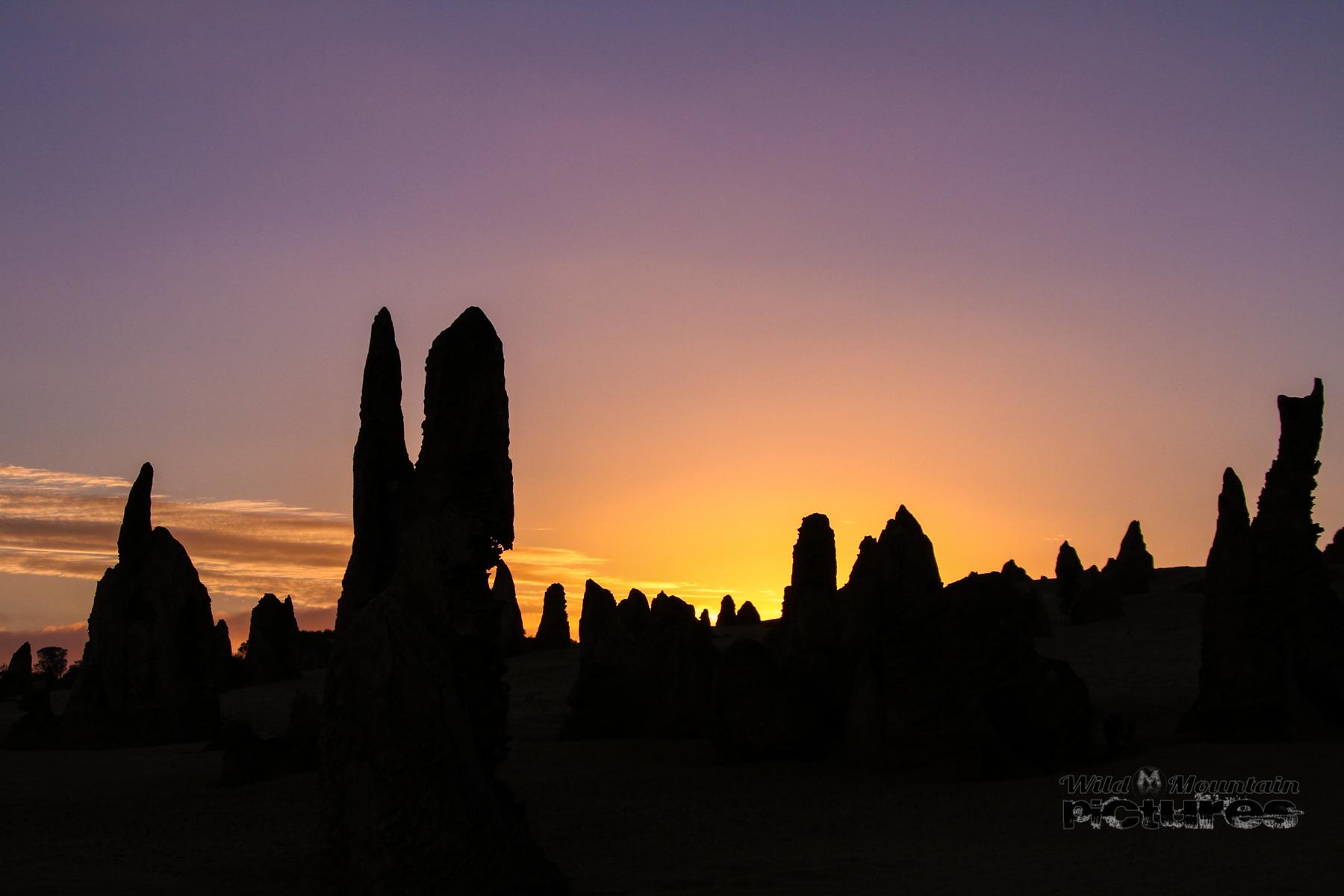Sunrise In The Pinnacle Desert