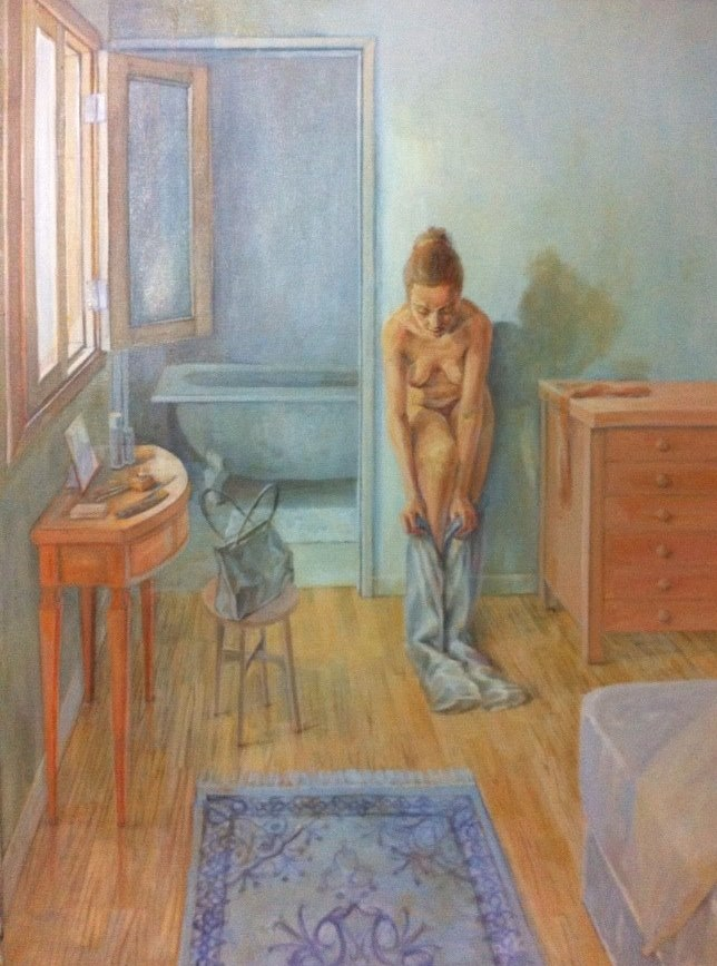 DRESSING   2004        ILAN FRIDER    OIL ON CANVAS.jpg