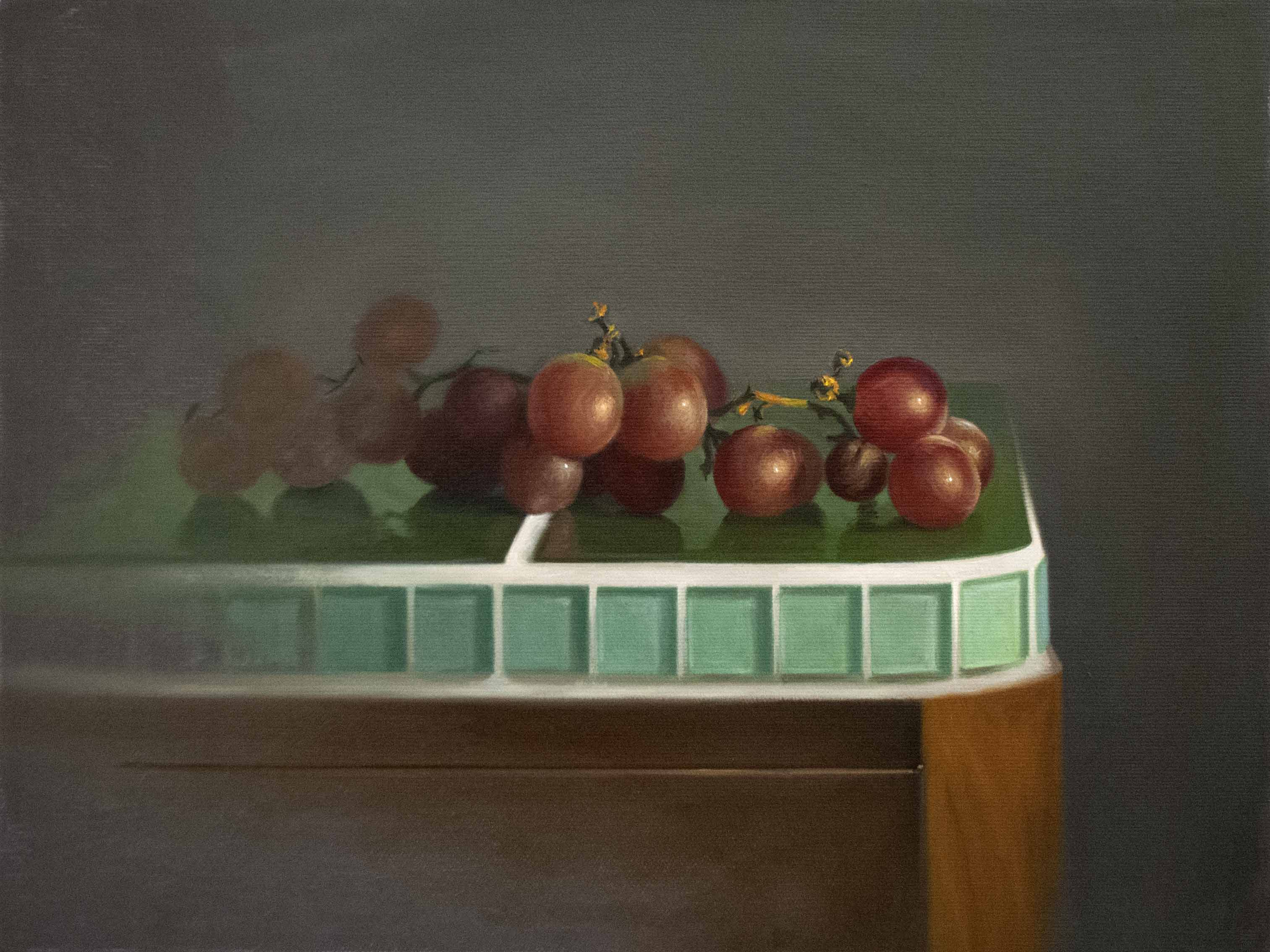 grapes on green 30x40