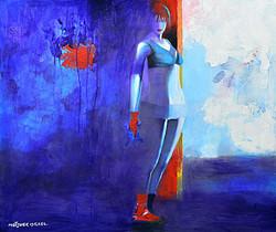 baby blue 80x80 cm acrylic