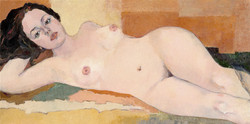 Luba Meshulam Lemkovitch Nude1 50x100cm  geclee print on canvas 1 from 1 signed 2010