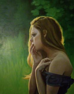 D S chertkoff Sunny Girl Oil on can80x80