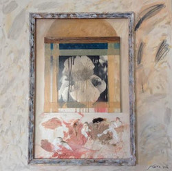 Dalia Burshtein Untiteld Mix Media  on  70cm x 70cm Canvas 9
