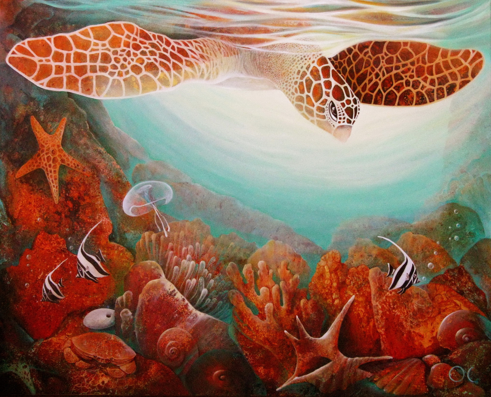 01. Happy Diver, oil on canvas 80x100 cm, 2010.jpg