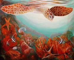 01. Happy Diver, oil on canvas 80x100 cm, 2010.jpg