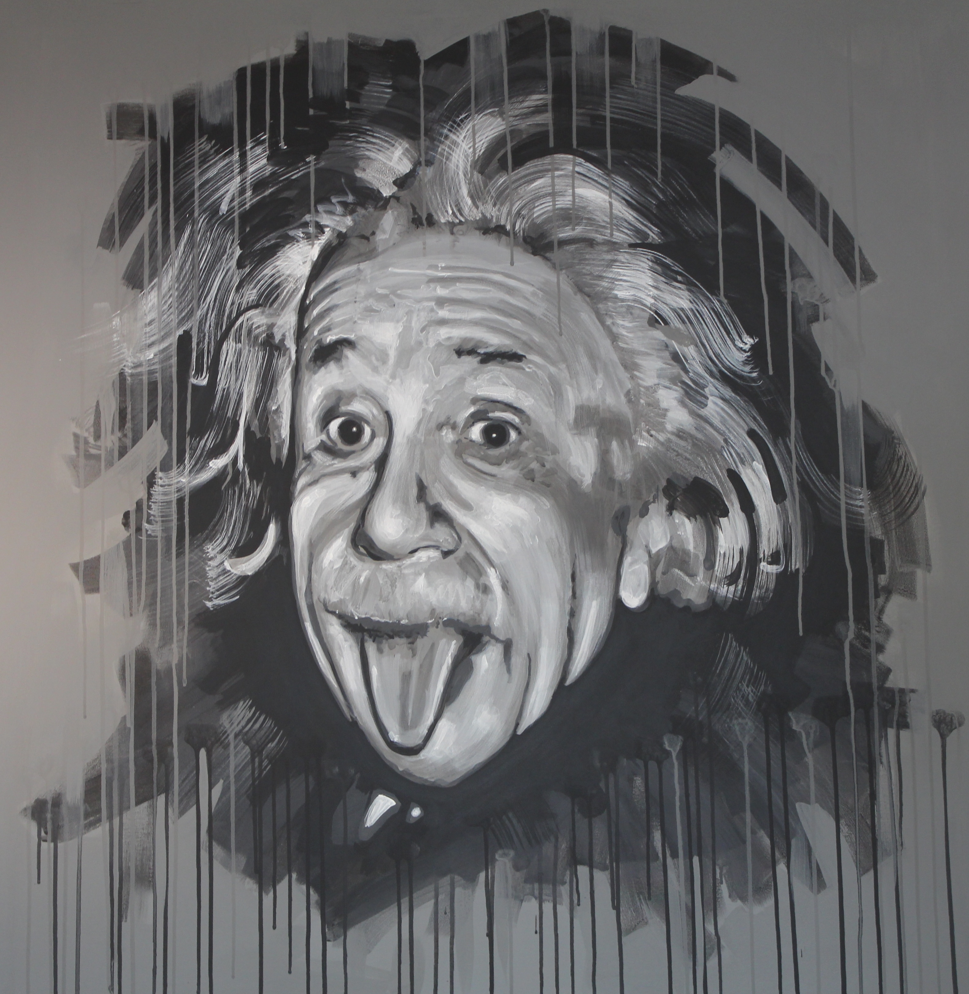 albert einstein acrylic 112x112 sold