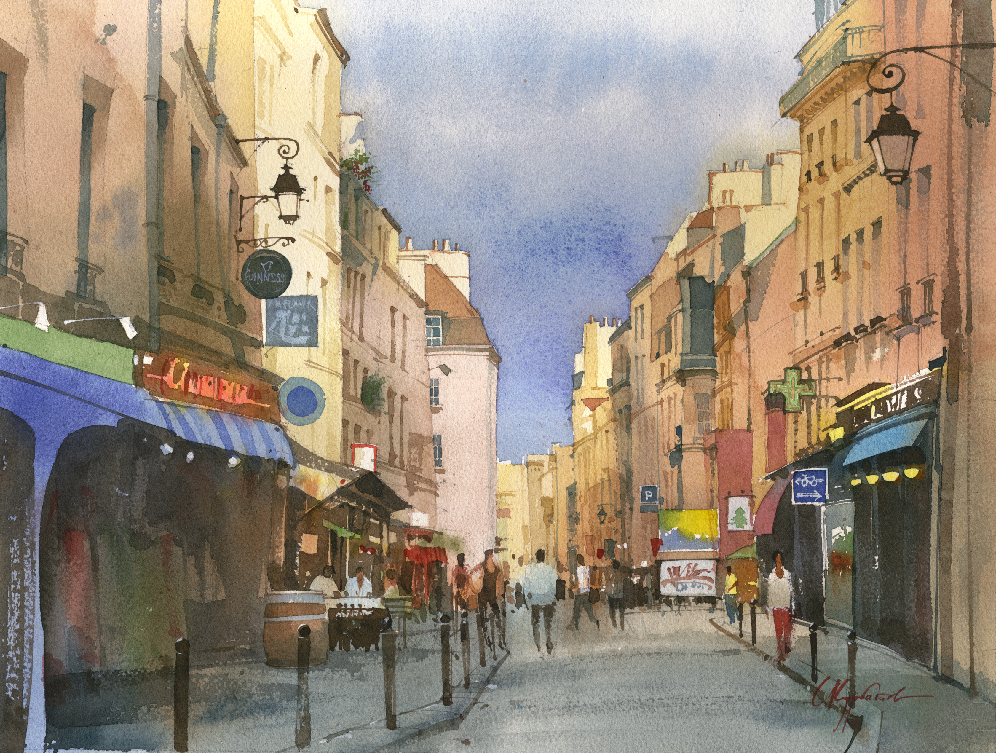 quartier_latin  Size 43x33, watercolor, 2012 year.jpg