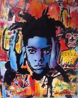 SAMO   is the street srt name of Jean Michel Basquiat 90x67cm   acr on canvas DA