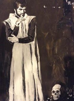 Mark Vcherushanski   Hamlet with Yoricks skull  71x49 Mix media on paper Paper