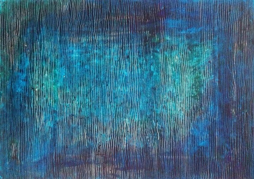 BLUE ONE  100x70cm  mix media Colette Leinman.jpg