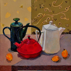 12Lubov Meshulam Lemkovitch Still   slife  with Loquats  oil on canvas 50x50cm