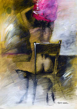 Known unknowns   Israel Metzger 50x70 Mix media on paper