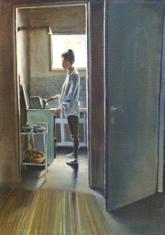 The Kitchen    1991    ILAN FRIDER    OIL ON Yuta.jpg