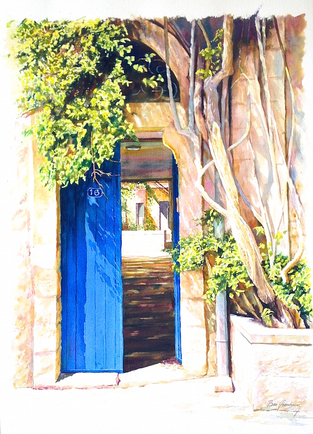 beni gassenbauer  HILLEL STREET  76x57 2015 watercolor on paper.jpg