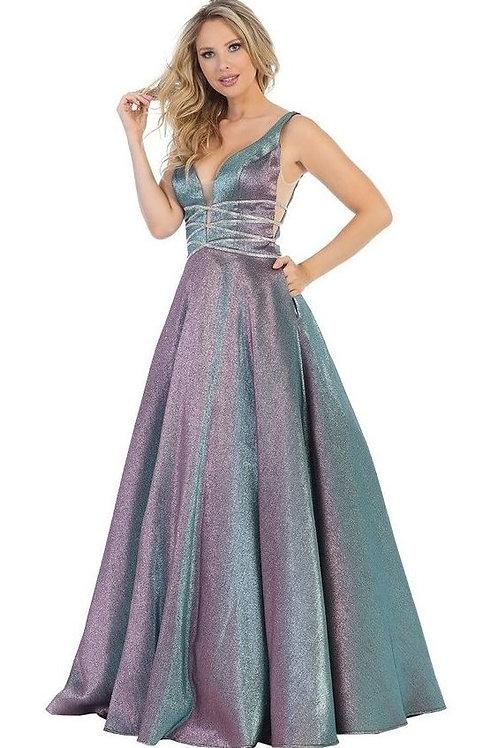 Lilac Metallic Jeweled Ballgown Size L