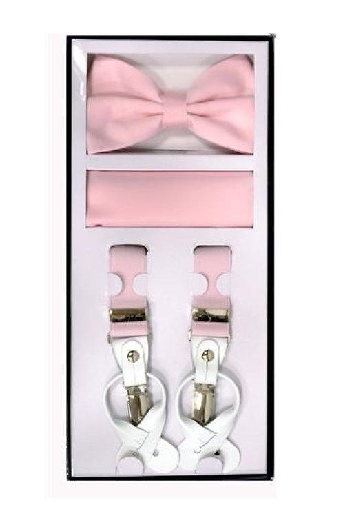 Pink Suspender Set