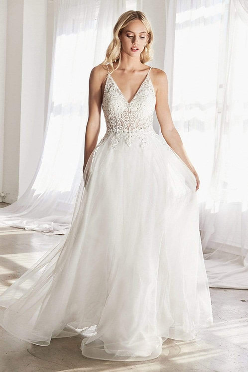 Off White Scroll Lace Bridal Gown Size 10