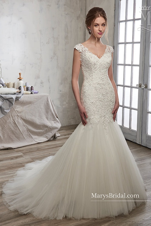 Ivory Mermaid Bridal Gown Size 12