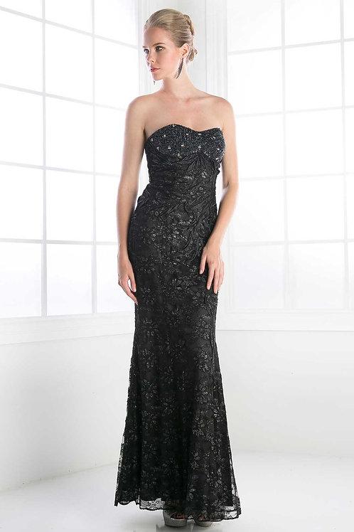 Black Lace Long Dress Size 4, 18