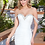 Thumbnail: Ivory Fit & Flare Off The Shoulder Bridal Gown Size 10