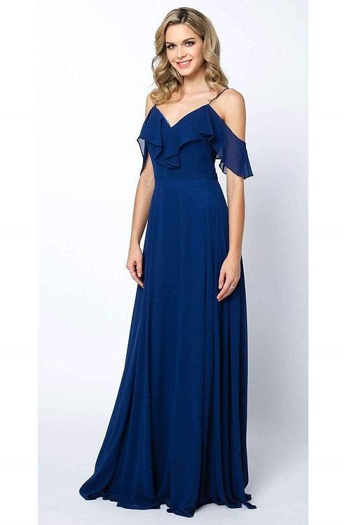Navy Off Shoulder Long Dress Size M