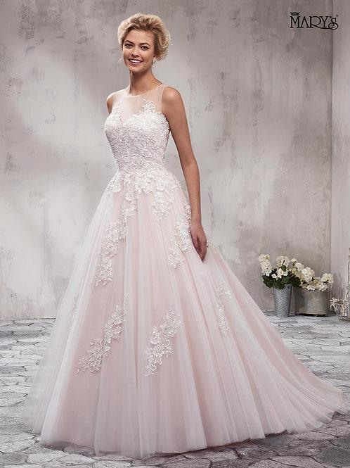 Blush A-Line Bridal Gown Size 16