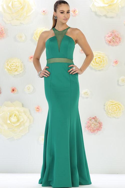 Emerald Illusion Long Dress Size 6