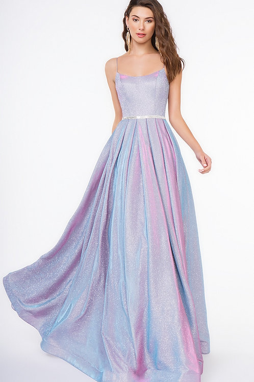 Lilac Metallic Long Dress Size 8