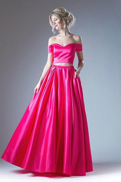 Fuchsia Two Piece Dress Size 4