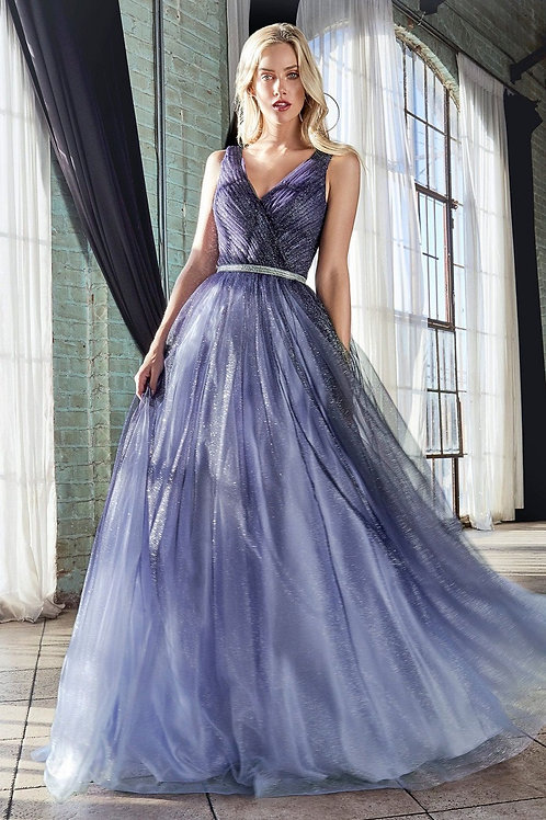 Navy Ombre Glitter Long Dress Size 2