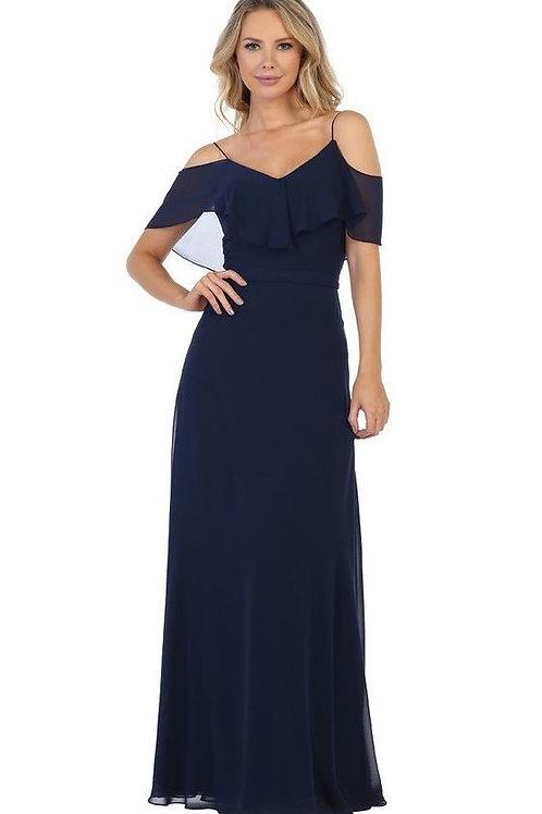 Navy Off Shoulder Long Dress Size 5X