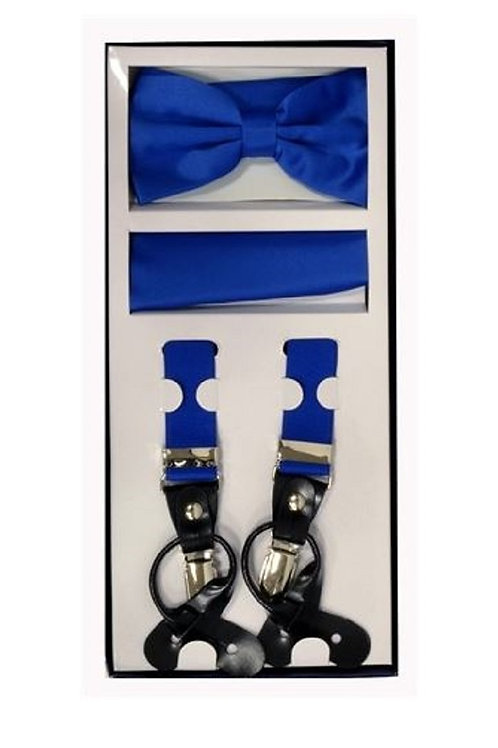 Royal Blue Suspender Set