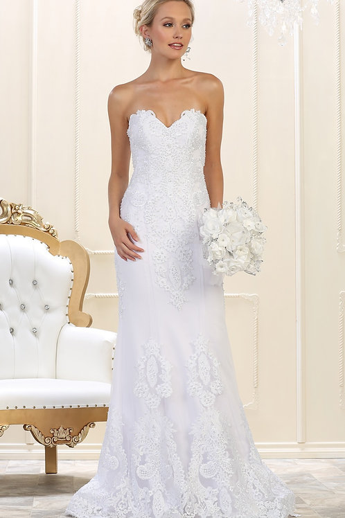 Ivory Strapless Bridal Gown Size 4
