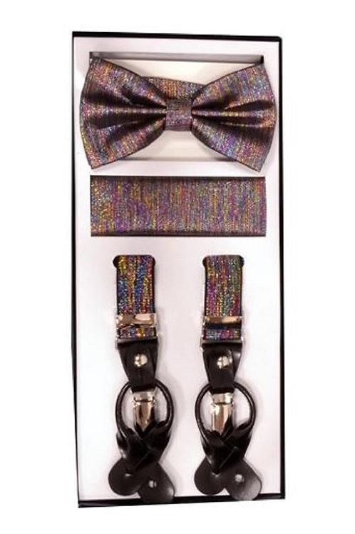 Rainbow Metallic Suspender Set