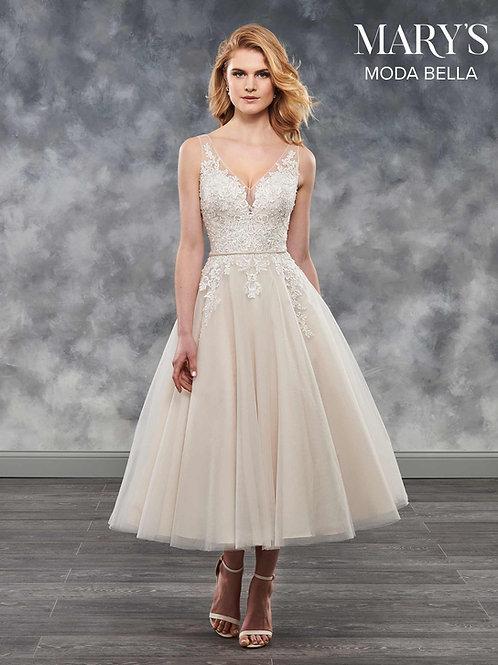 Ivory Tea Length Wedding Dress Size 4
