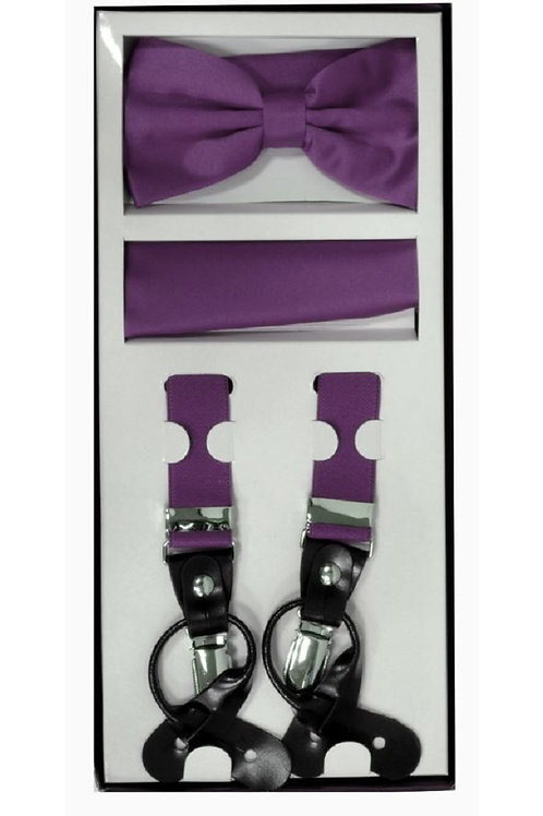 Eggplant Suspender Set