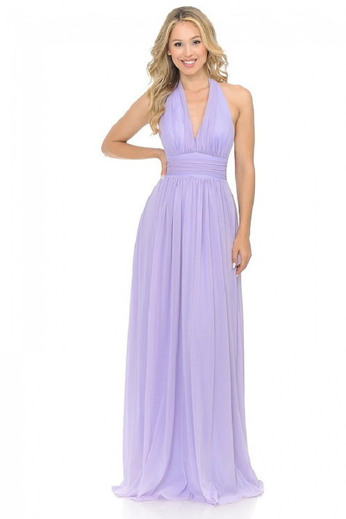 Lilac Chiffon Long Dress Size XL