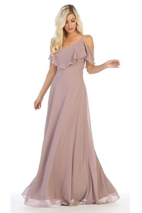 Mauve Off Shoulder Dress Size 12