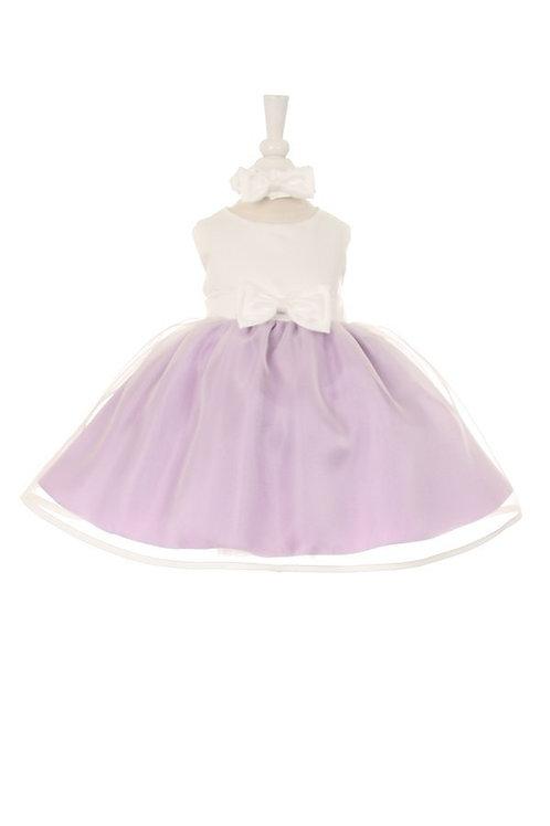 Baby Girls Lilac & Ivory Short Dress Size XL