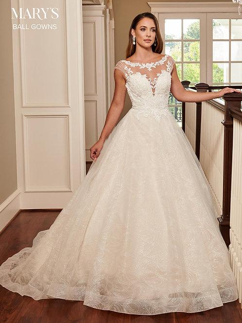 Ivory Glitter Ball Gown