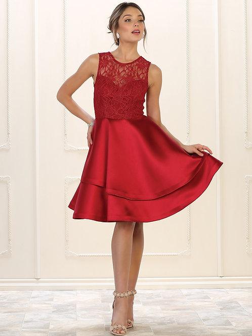Burgundy Lace Short Dress Size 4
