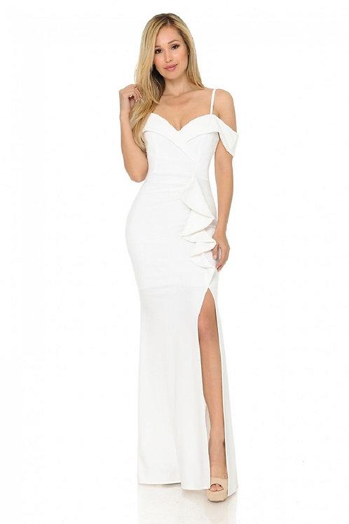 Ivory Off Shoulder Bridal Gown Size M