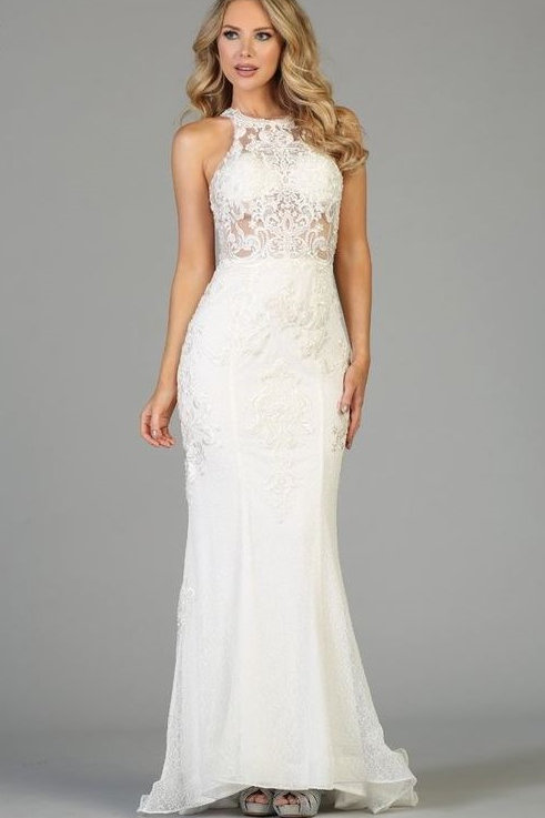 Off White Illusion Fit & Flare Bridal Gown Sizes XS & M