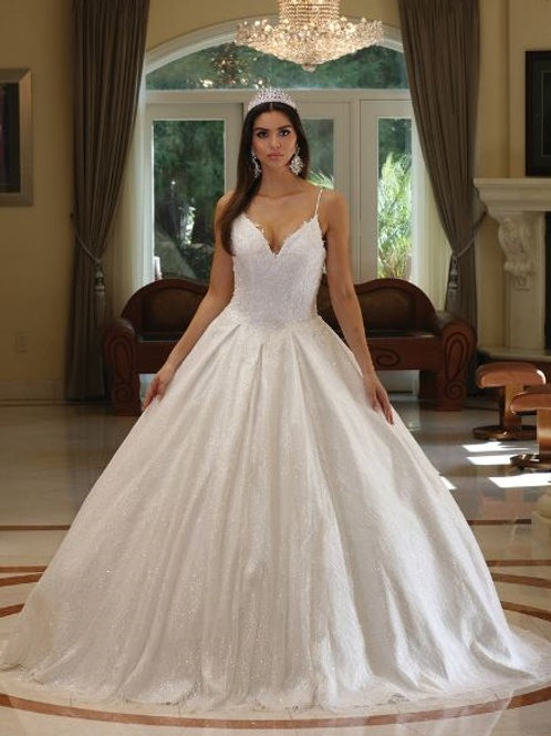 Off White Sparkle Bridal Ball Gown Size S